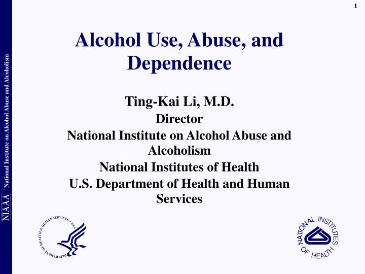 Alcohol use abuse and dependence