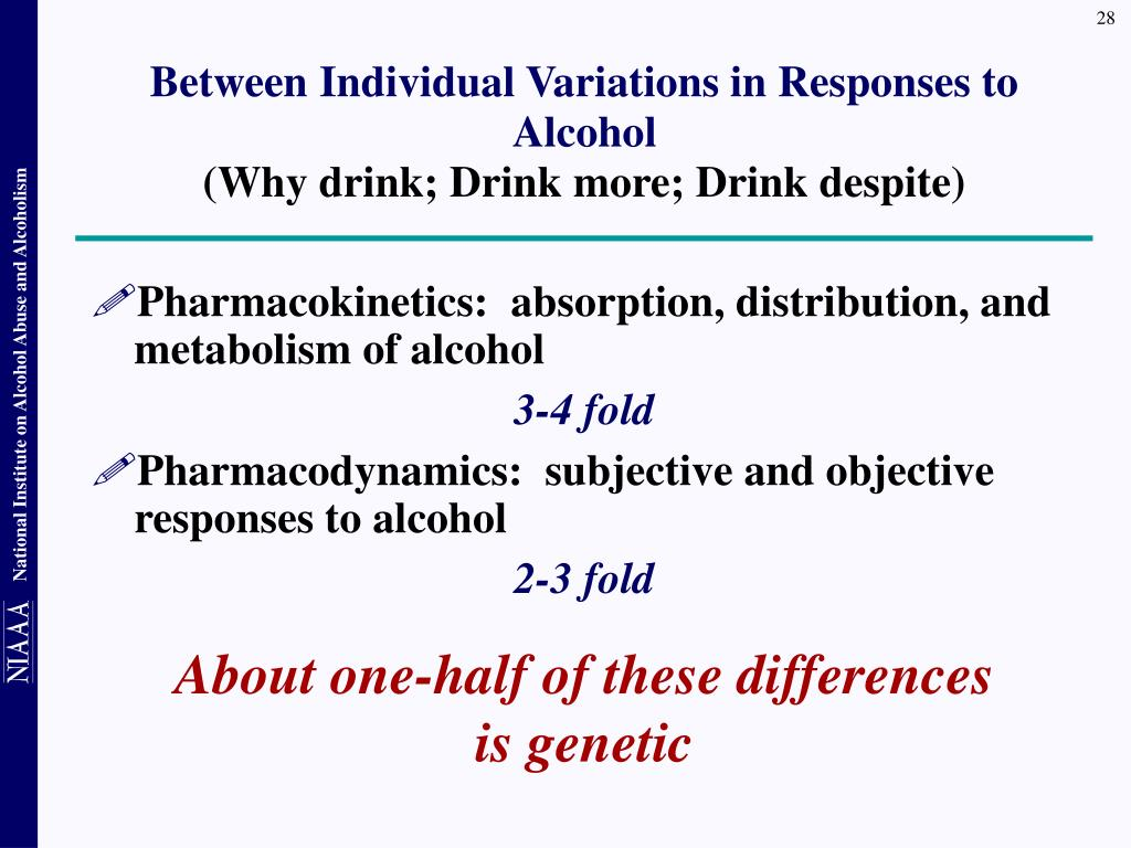Between Individual Variations in Responses to Alcohol