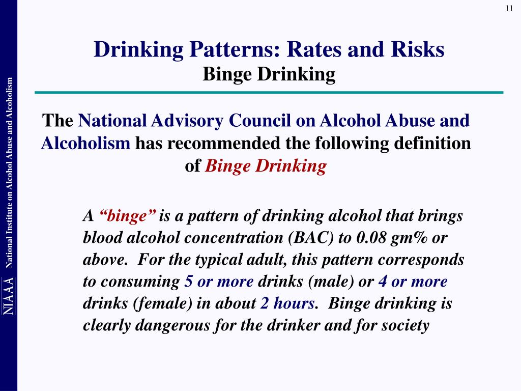 Drinking Patterns: Rates and Risks