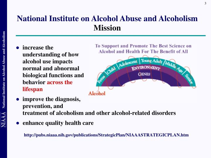 National institute on alcohol abuse and alcoholism mission