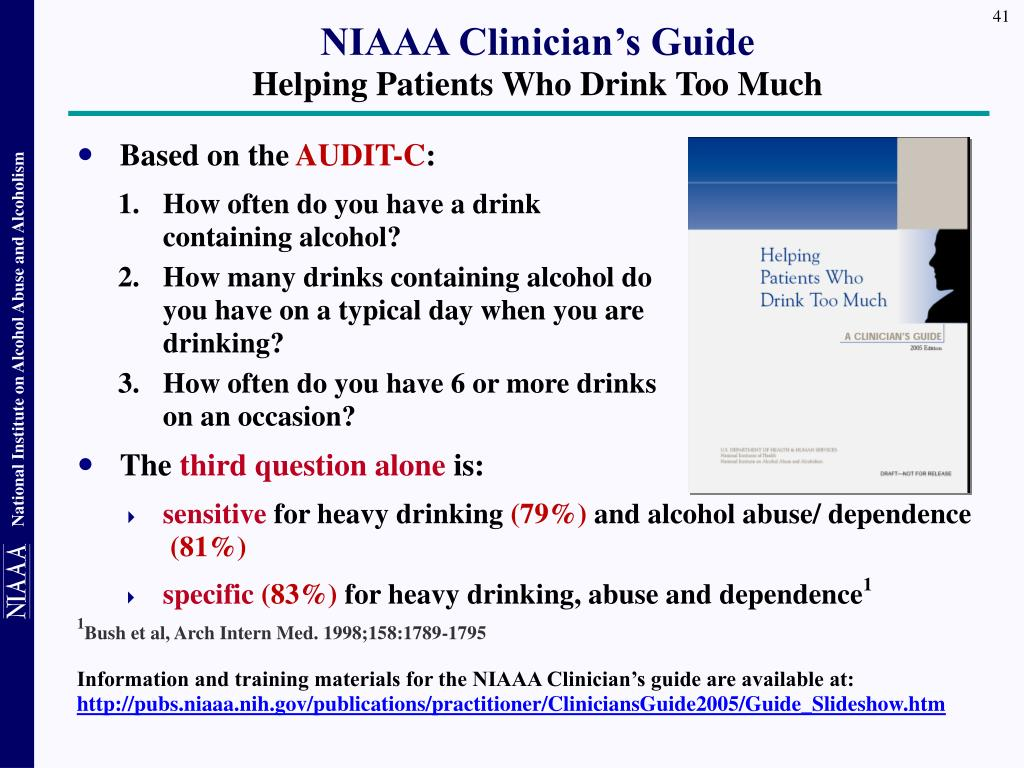 NIAAA Clinician's Guide
