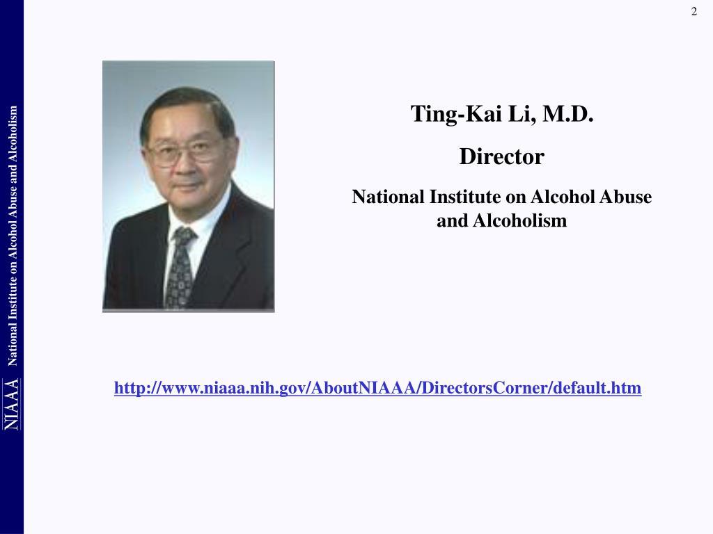 Ting-Kai Li, M.D.