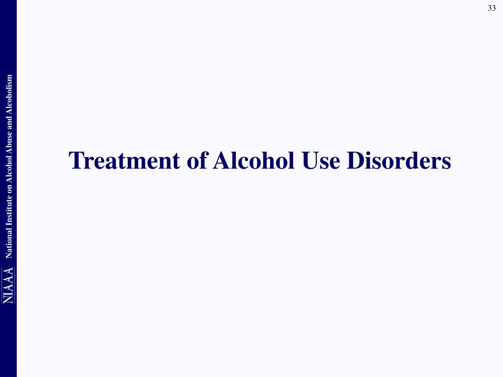 Treatment of Alcohol Use Disorders