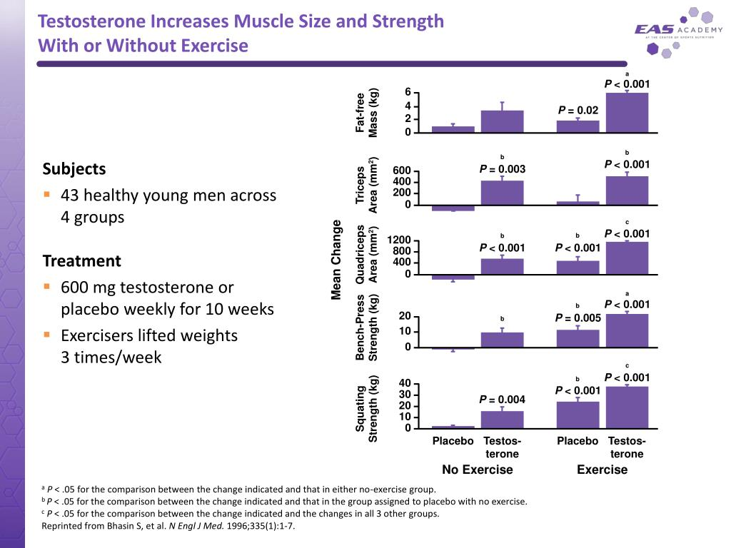 Testosterone Increases Muscle Size and Strength