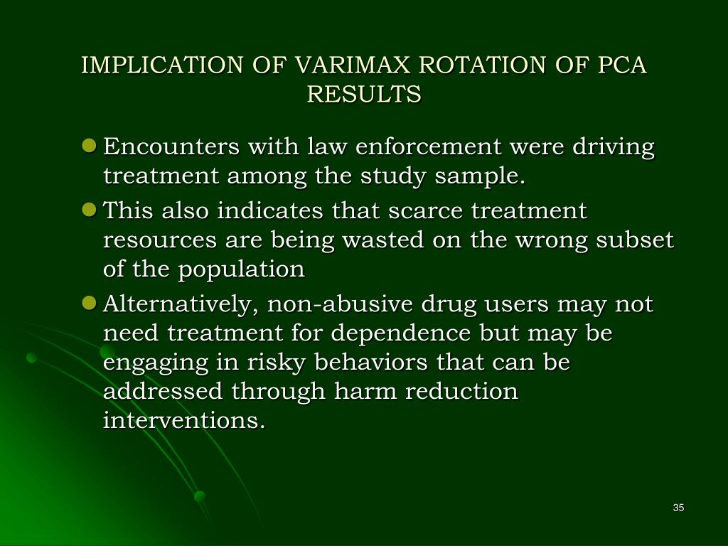 IMPLICATION OF VARIMAX ROTATION OF PCA RESULTS