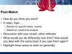 post match