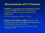 measurements of lv function