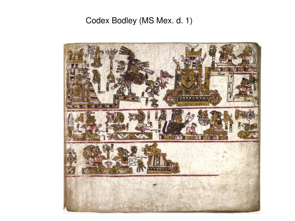 Codex Bodley (MS Mex. d. 1)