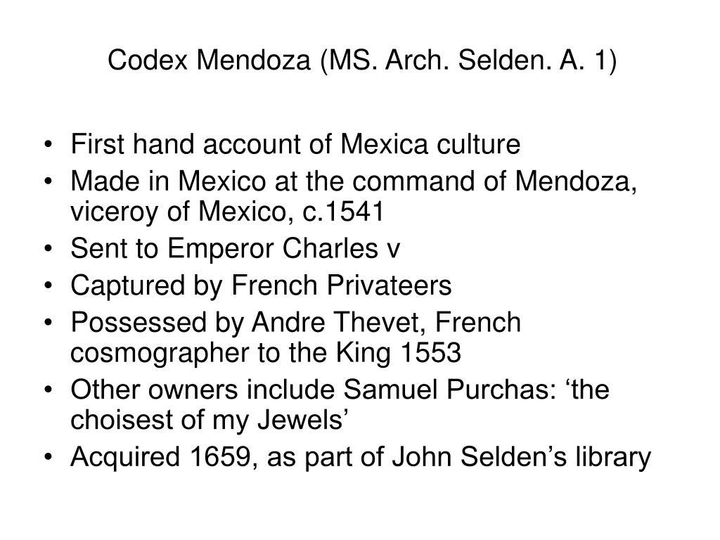 Codex Mendoza (