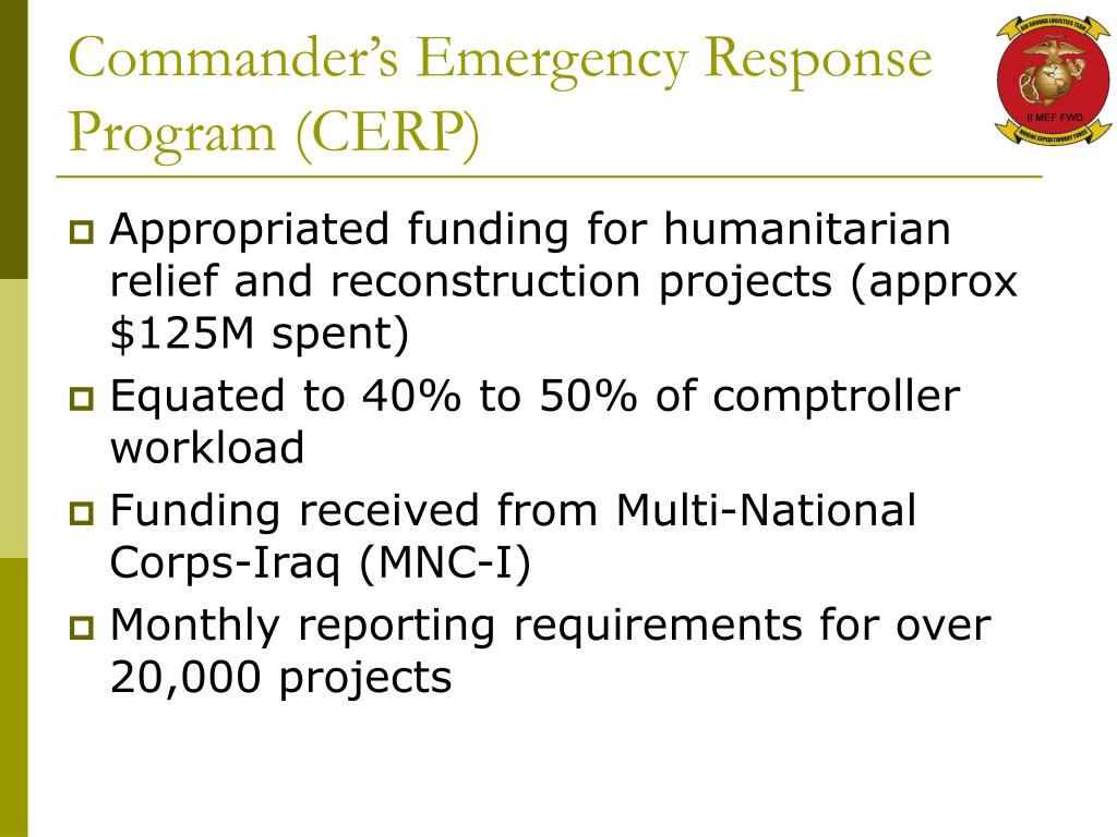 Commander's Emergency Response Program (CERP)