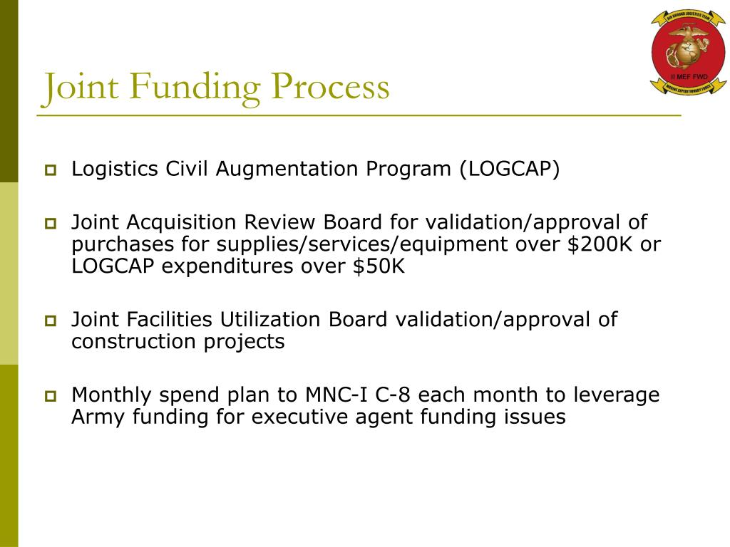 Joint Funding Process