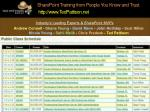 sharepoint training from people you know and trust http www tedpattison net