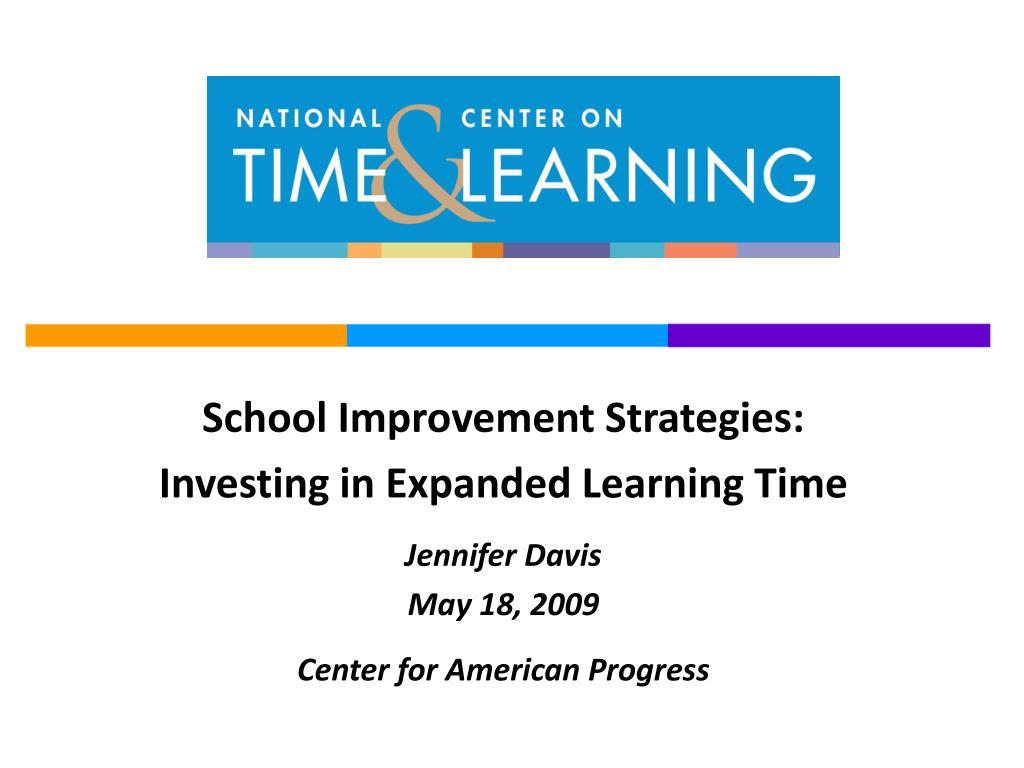School Improvement Strategies: