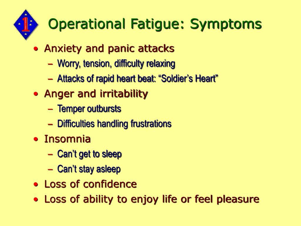 Operational Fatigue: Symptoms