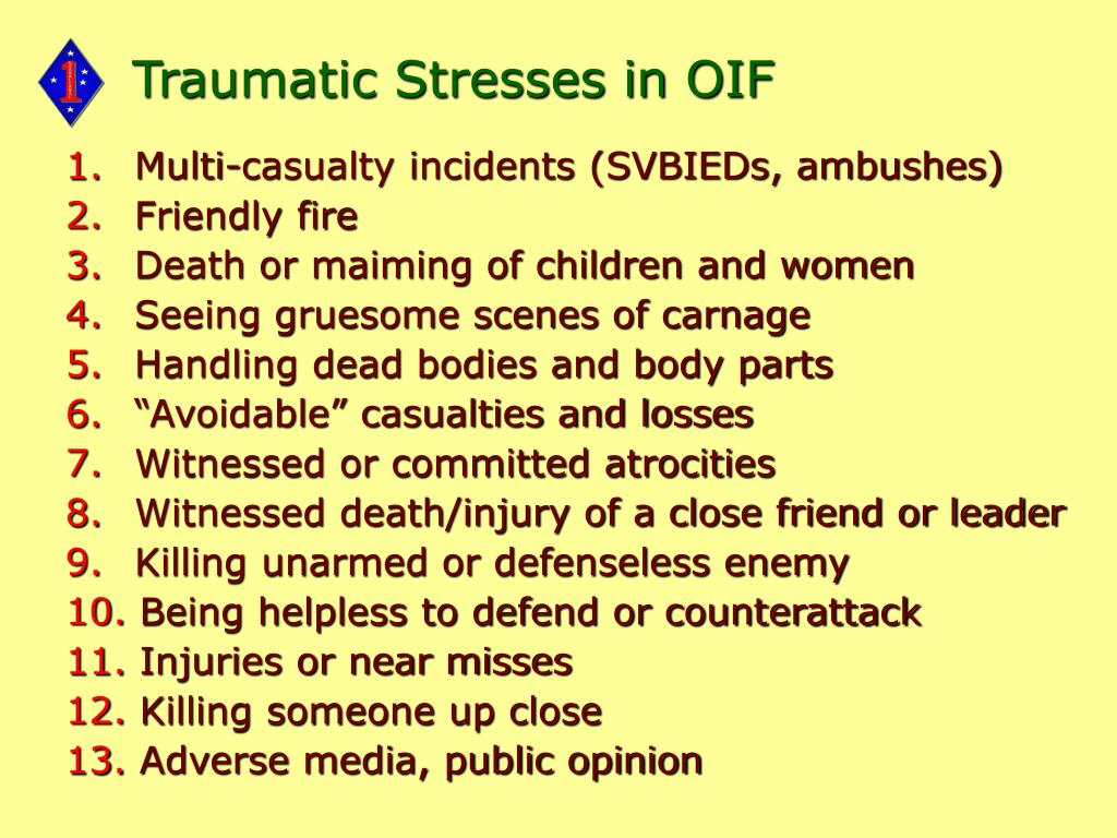 Traumatic Stresses in OIF