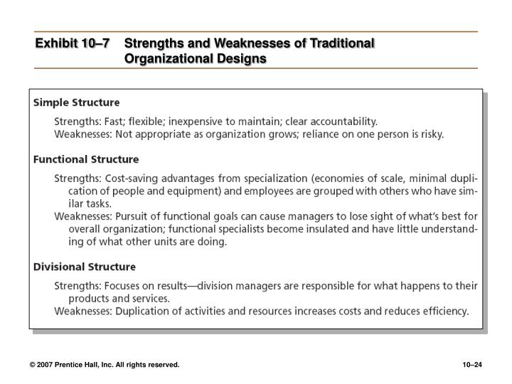 strenght and weakness of organization structure Encyclopedia of business, 2nd ed swot analysis: pr-sa.