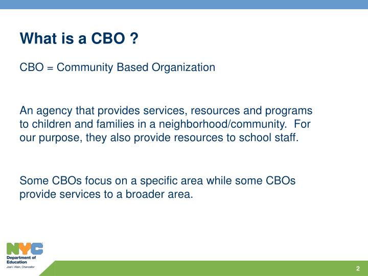 What is a cbo