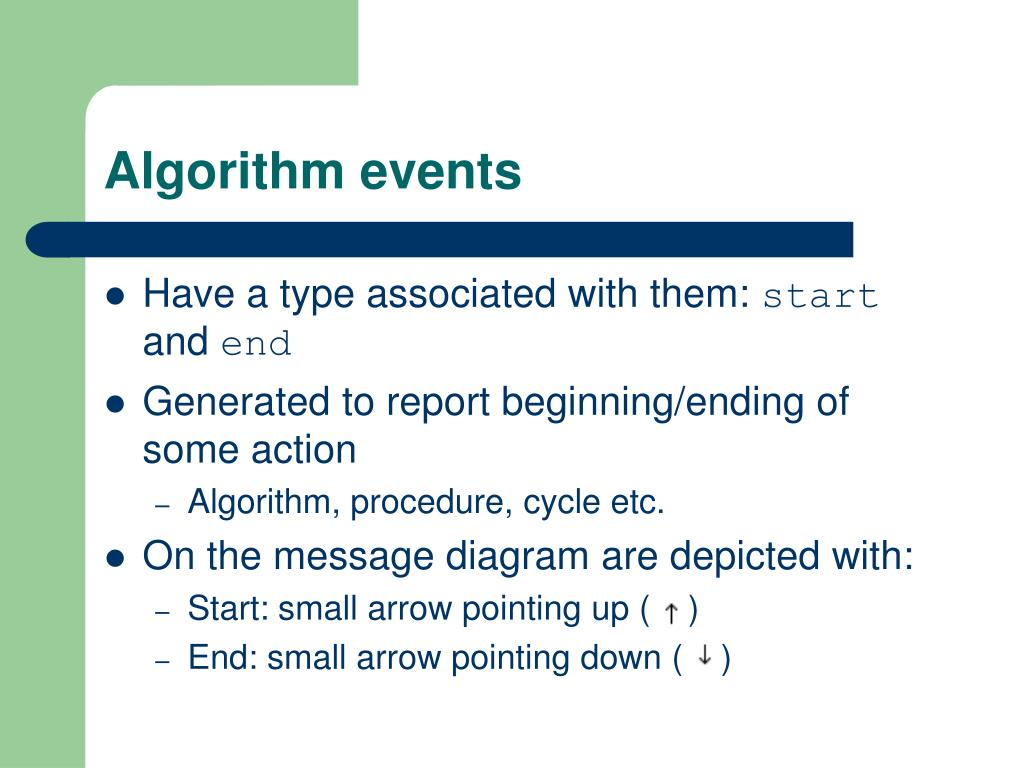 Algorithm events