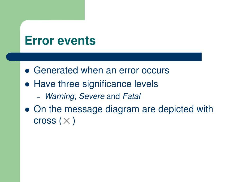 Error events