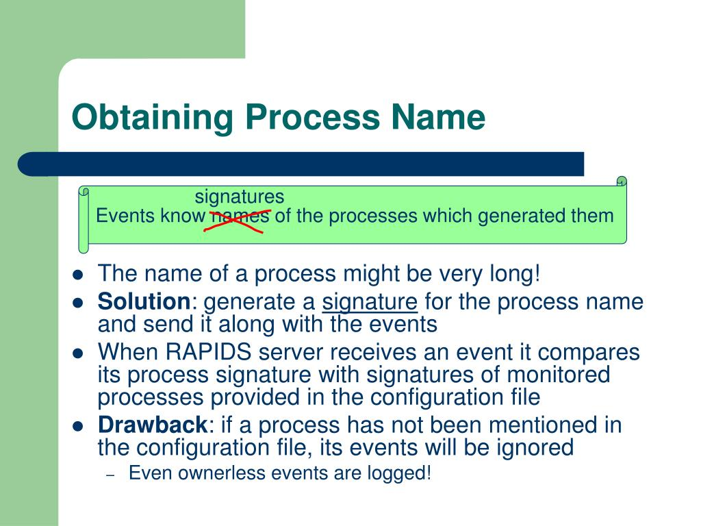 Obtaining Process Name