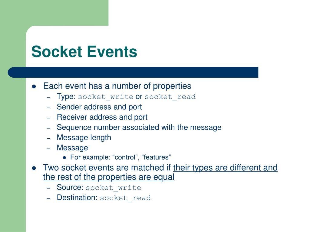Socket Events