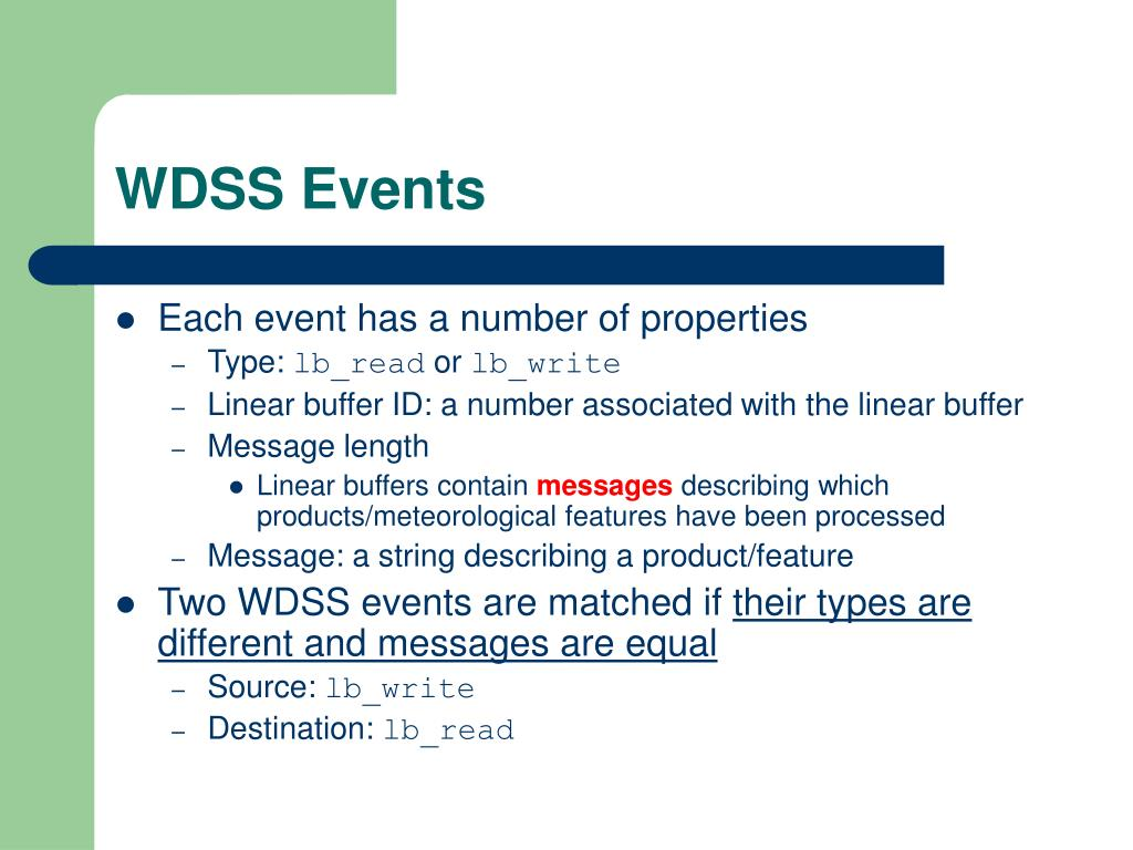 WDSS Events