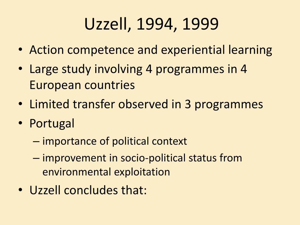 Uzzell, 1994, 1999