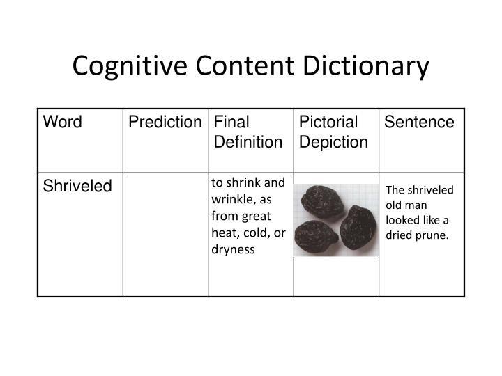 Cognitive content dictionary2