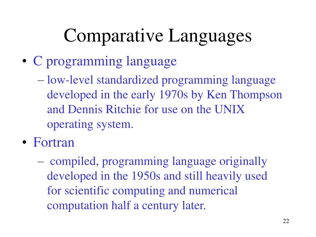 Comparative Languages