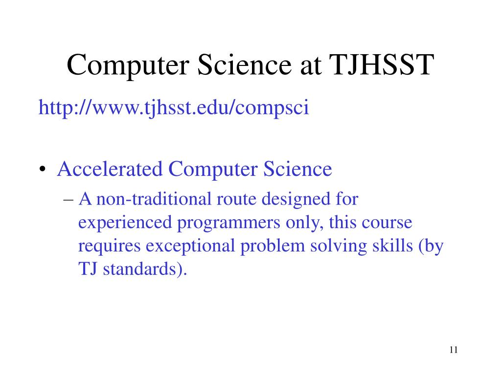 Computer Science at TJHSST