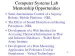 computer systems lab mentorship opportunities49