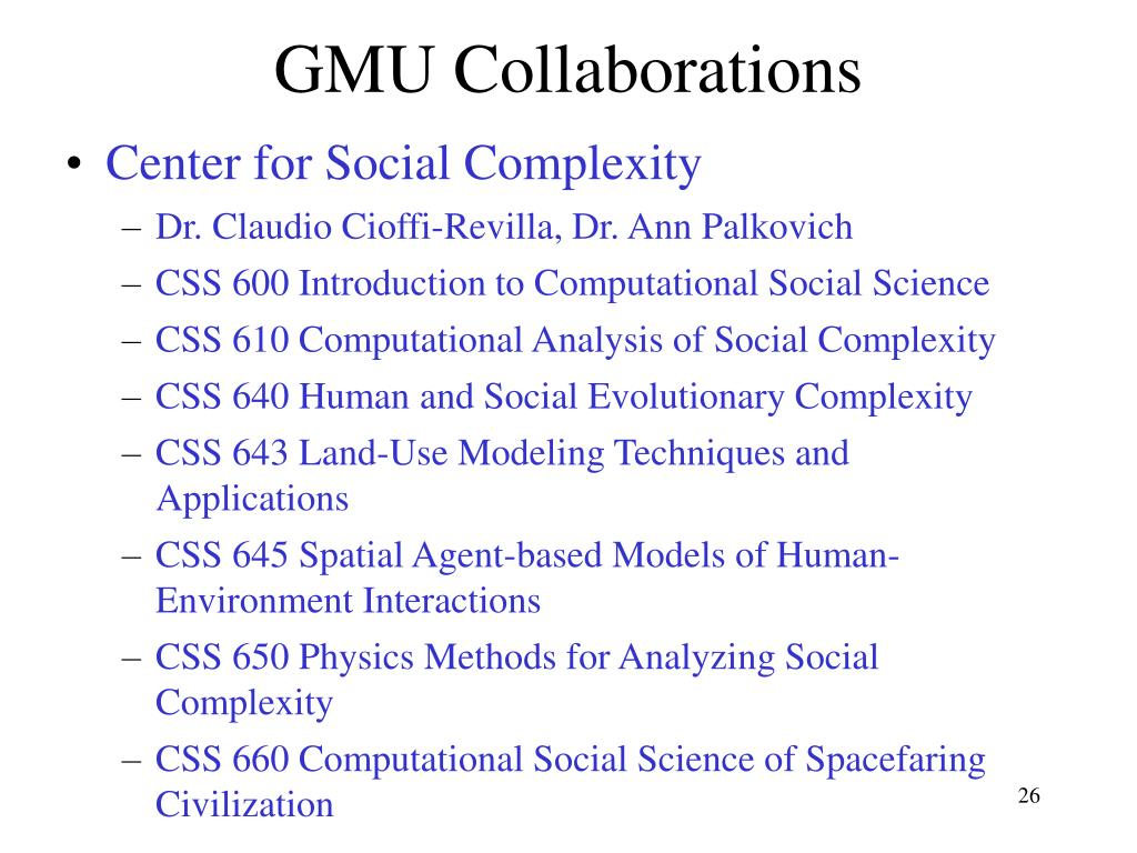 GMU Collaborations