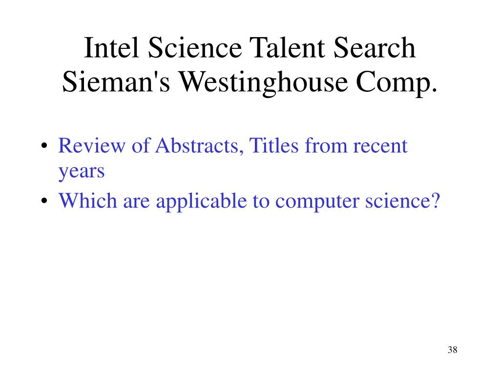 Intel Science Talent Search