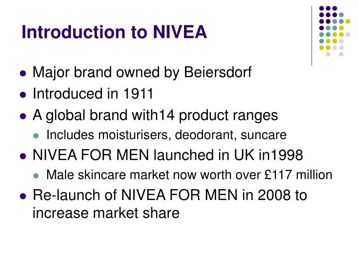 analysis of the case nivea for men developing a marketing plan One of these was the nivea men after shave balsam for sensitive men's skin in the 90s, nivea expanded to become a global brand with consistent names, products and packaging nivea families, like visage, deodorant, soft, vital and nivea bath care were developed at this time.