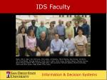 ids faculty