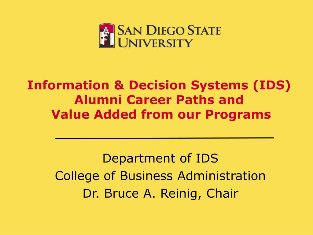 information decision systems ids alumni career paths and value added from our programs l.