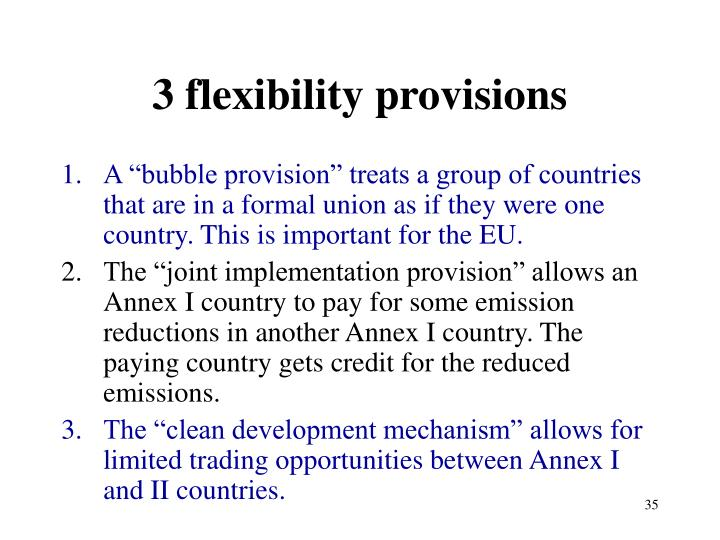 3 flexibility provisions