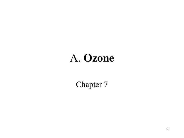 A ozone