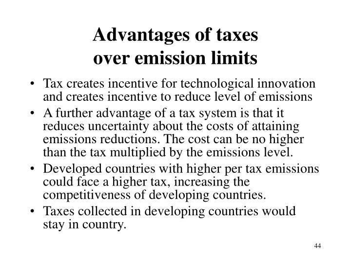 Advantages of taxes