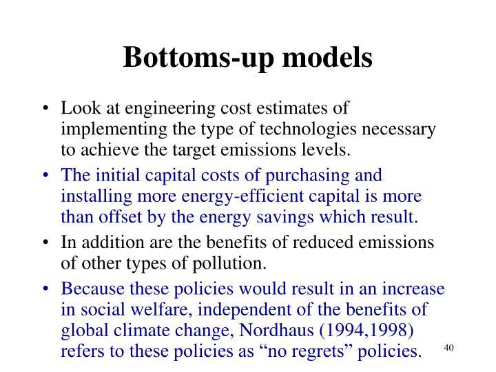 Bottoms-up models