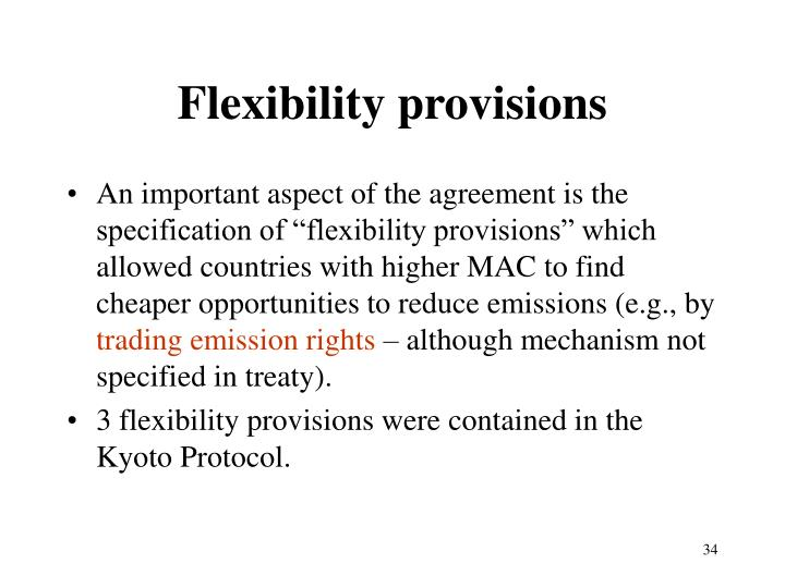 Flexibility provisions