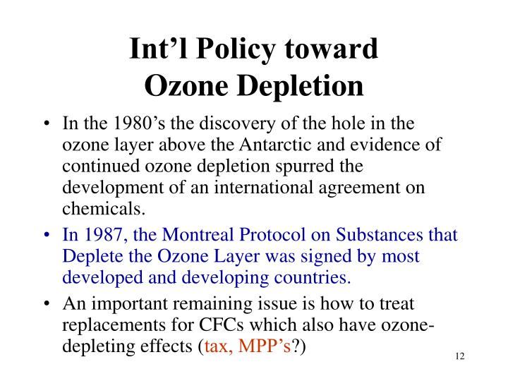 Int'l Policy toward