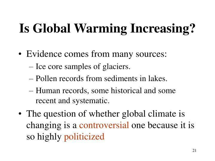 Is Global Warming Increasing?