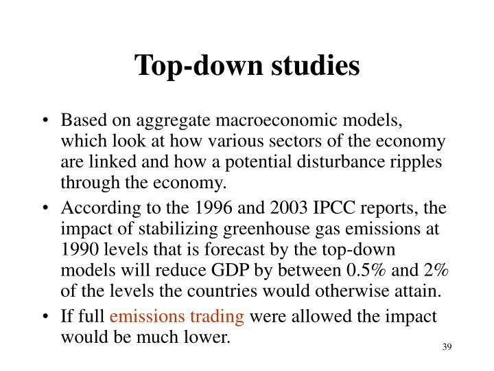 Top-down studies