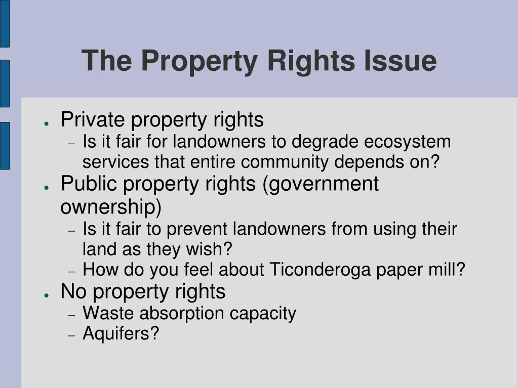 The Property Rights Issue
