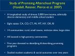 study of promising afterschool programs vandell reisner pierce et al 2007
