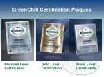 greenchill certification plaques