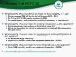 phaseout of hcfc 22