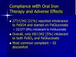 compliance with oral iron therapy and adverse effects1