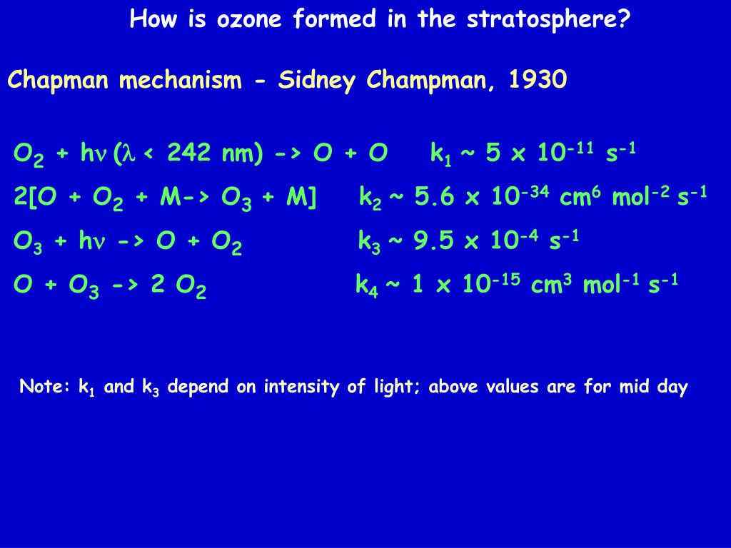 How is ozone formed in the stratosphere?